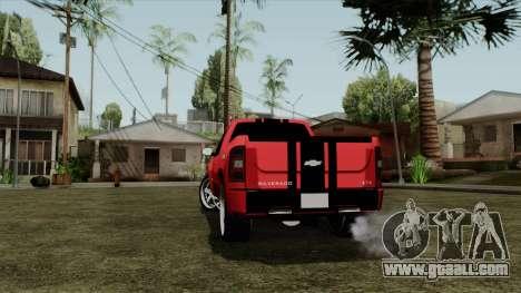 Chevrolet Silverado Tuning for GTA San Andreas back left view
