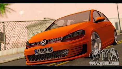 Volkswagen Golf GTI 2014 for GTA San Andreas