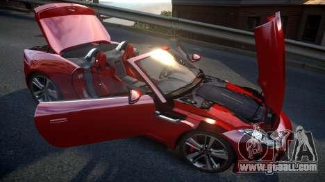 Jaguar F-Type v1.6 Release [EPM] for GTA 4 upper view