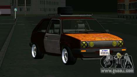 Volkswagen Golf II Rat Style for GTA San Andreas back view