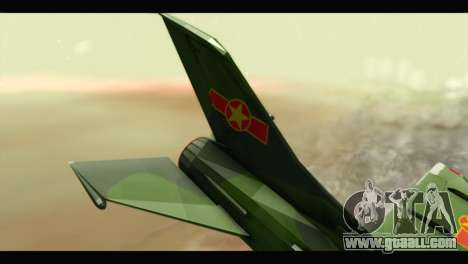 Mikoyan-Gurevich MIG-21UM Vietnam Air Force v2.0 for GTA San Andreas back left view