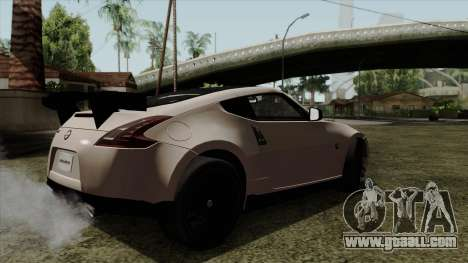 Nissan 370Z Nismo for GTA San Andreas left view
