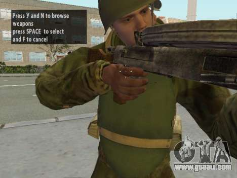 Soldiers of the red army in the armor for GTA San Andreas seventh screenshot