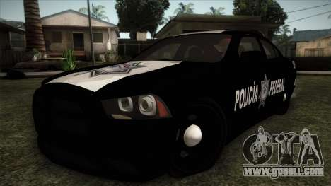 Dodge Charger 2013 Policia Federal Mexico for GTA San Andreas