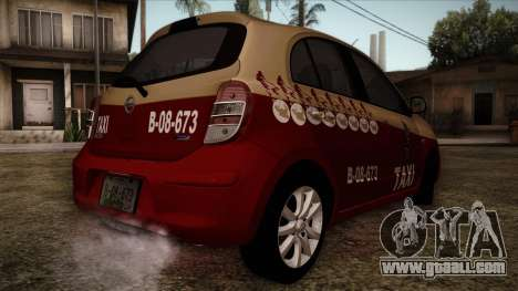 Nissan Micra Taxi DF 2012 for GTA San Andreas left view