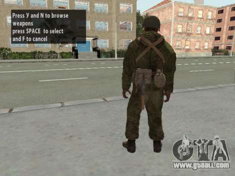 Soldiers of the red army in the armor for GTA San Andreas sixth screenshot