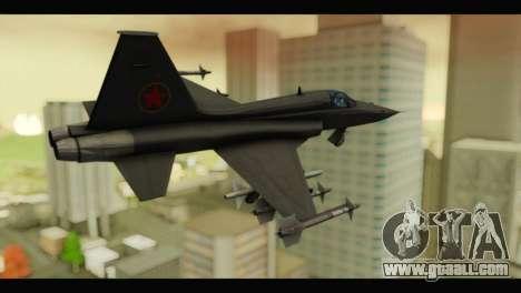 Northrop F-5E Top Gun for GTA San Andreas left view