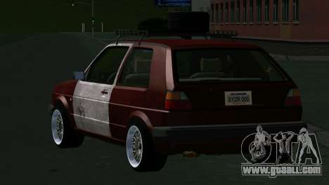 Volkswagen Golf II Rat Style for GTA San Andreas back left view