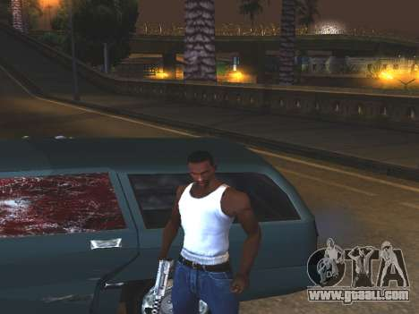 Blood on the Windows of the car for GTA San Andreas second screenshot