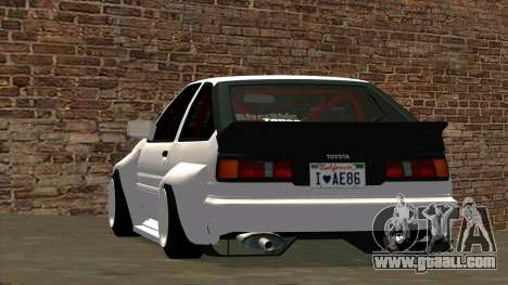 Toyota AE86 for GTA San Andreas side view