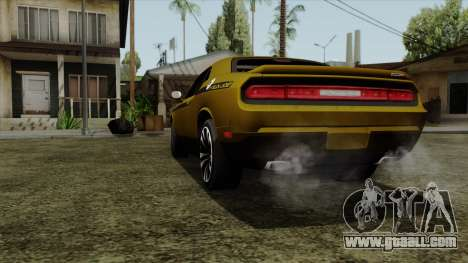 Dodge Challenger Yellow Jacket for GTA San Andreas back left view