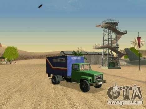 GAZ 3309 for GTA San Andreas bottom view
