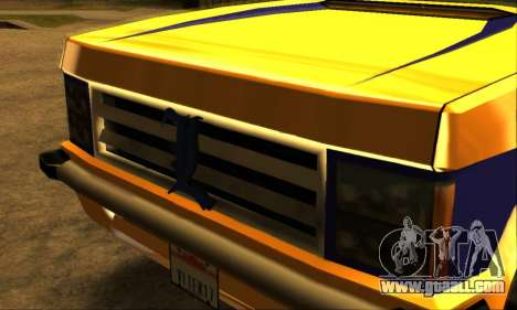 Luni Huntley for GTA San Andreas bottom view