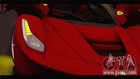 Ferrari LaFerrari 2014 for GTA San Andreas back view