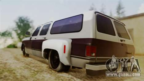 Chevrolet Suburban Dually for GTA San Andreas left view