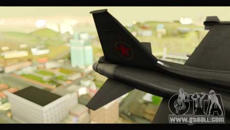 Northrop F-5E Top Gun for GTA San Andreas back left view