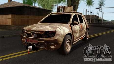 Dacia Duster Army Skin 4 for GTA San Andreas