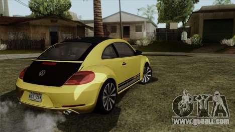 Volkswagen New Beetle 2014 GSR for GTA San Andreas left view