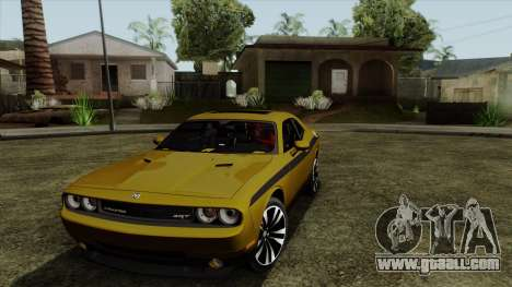 Dodge Challenger Yellow Jacket for GTA San Andreas left view