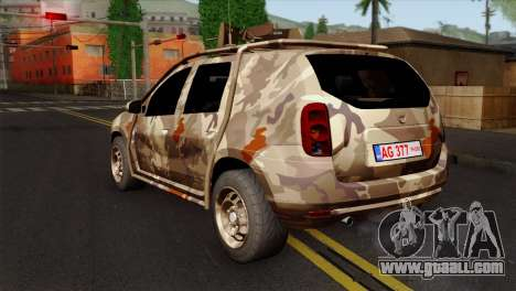 Dacia Duster Army Skin 4 for GTA San Andreas left view