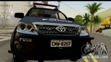 Toyota Hilux SW4 2009 ROTA for GTA San Andreas back left view