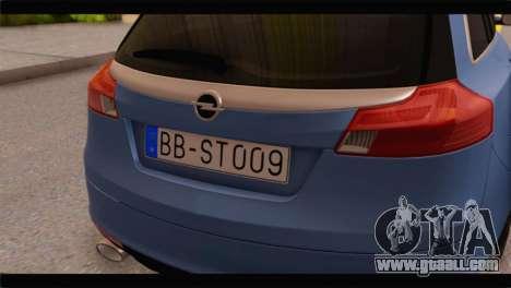 Opel Insignia Wagon for GTA San Andreas back view