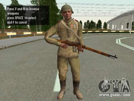 Soldiers of the red army in the helmet for GTA San Andreas fifth screenshot