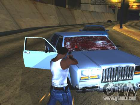 Blood on the Windows of the car for GTA San Andreas forth screenshot