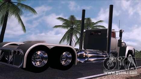 Mack RS700 Custom for GTA San Andreas back left view