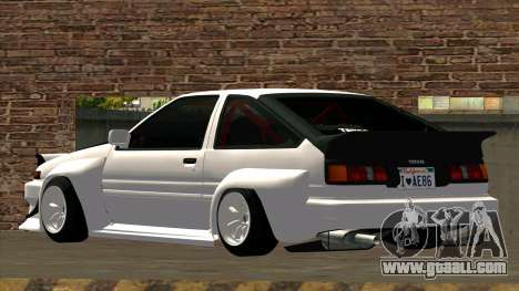 Toyota AE86 for GTA San Andreas inner view