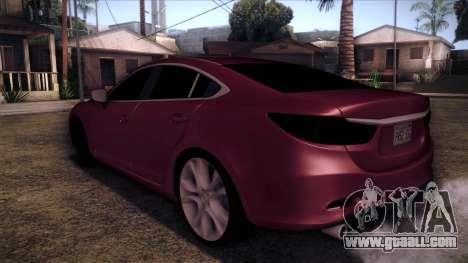 Mazda 6 2013 HD v0.8 beta for GTA San Andreas left view