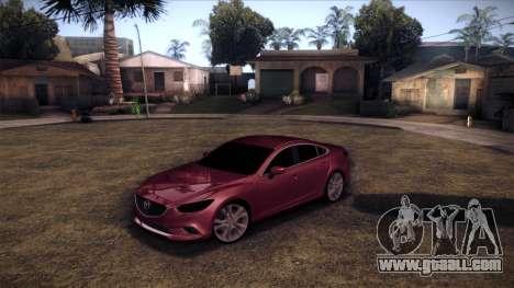 Mazda 6 2013 HD v0.8 beta for GTA San Andreas back left view