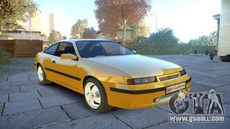 Opel Calibra v2 for GTA 4 inner view