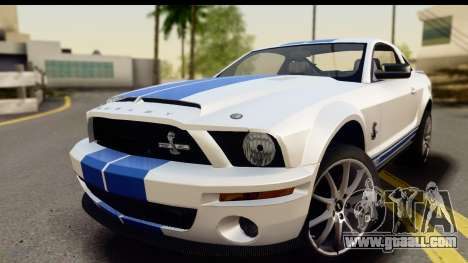 Ford Mustang Shelby GT500KR for GTA San Andreas back left view