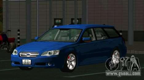 Subaru Legacy Touring Wagon 2003 for GTA San Andreas back left view