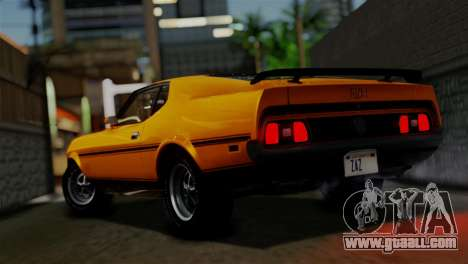 Ford Mustang Mach 1 429 Cobra Jet 1971 HQLM for GTA San Andreas left view