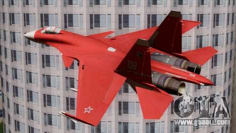SU-37 Flanker-F Soviet Parade for GTA San Andreas left view