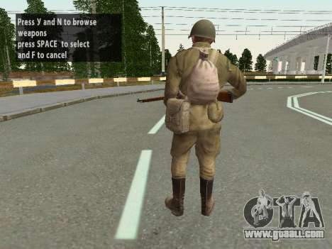 Soldiers of the red army in the helmet for GTA San Andreas sixth screenshot