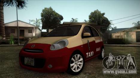 Nissan Micra Taxi DF 2012 for GTA San Andreas