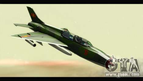 Mikoyan-Gurevich MIG-21UM Vietnam Air Force v2.0 for GTA San Andreas