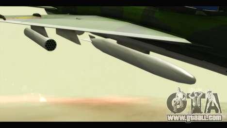 Mikoyan-Gurevich MIG-21UM Vietnam Air Force v2.0 for GTA San Andreas right view