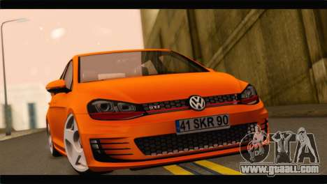 Volkswagen Golf GTI 2014 for GTA San Andreas back left view