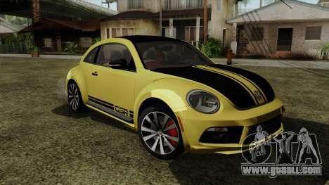 Volkswagen New Beetle 2014 GSR for GTA San Andreas