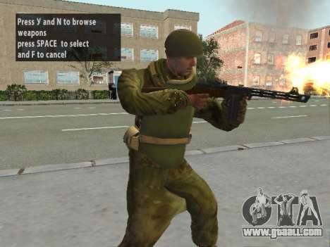 Soldiers of the red army in the armor for GTA San Andreas second screenshot