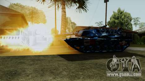 Blue military camouflage for tank for GTA San Andreas