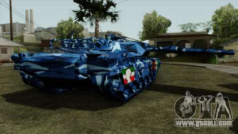 Blue military camouflage for tank for GTA San Andreas left view