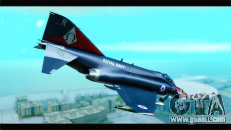 McDonnell Douglas F-4E RAF for GTA San Andreas left view