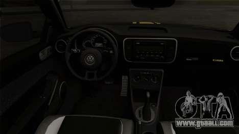Volkswagen New Beetle 2014 GSR for GTA San Andreas back left view