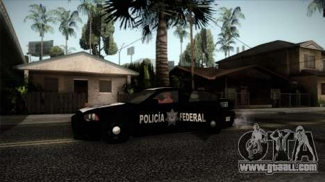 Dodge Charger 2013 Policia Federal Mexico for GTA San Andreas back left view
