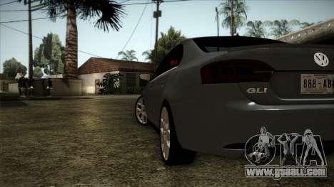 Volkswagen Jetta GLI Edition 30 2014 for GTA San Andreas back left view